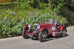 Mercedes-Benz 710 SSK (1929) in Mille Miglia 2016 Stock Foto