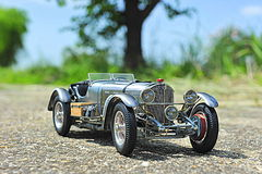 Mercedes-Benz SSKL 1931 racing car. Vintage race car from 1931 from the german producer Mercedes Benz stock photos