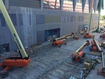 Mercedes Benz Stadium Construction Stock Photo