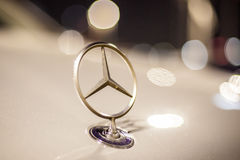 Mercedes Benz star on a car Royalty Free Stock Images