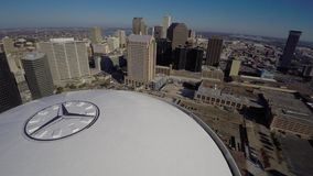Mercedes Benz Superdome aerial 4k video stock video footage