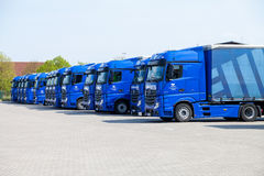 Mercedes benz trucks from haulage firm gertner, Stock Image