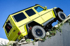 Mercedes Benz Tv Expecting The New Show Car G 500 4x4, Motor Show Geneva 2015 Royalty Free Stock Photography