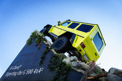 Mercedes Benz Tv Expecting The New Show Car G 500 4x4, Motor Show Geneve 2015 Stock Photo