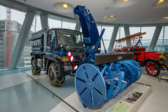Mercedes-Benz Unimog U500 with winter-service equipment, 2004. Royalty Free Stock Image