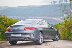 Mercedes-Benz-van de c-Klasse de Aandrijvingsdag Coupé 2016 Test Stock Foto