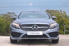 Mercedes-Benz-van de c-Klasse de Aandrijvingsdag Coupé 2016 Test Stock Fotografie