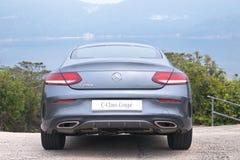 Mercedes-Benz-van de c-Klasse de Aandrijvingsdag Coupé 2016 Test Royalty-vrije Stock Foto
