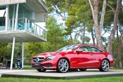 Mercedes-Benz-van de e-Klasse de Aandrijvingsdag Coupé 2017 Test Stock Afbeelding