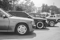 Mercedes Benz-verzameling aan Nakhon Ratchasima, Thailand 6 20 Februari Stock Afbeeldingen