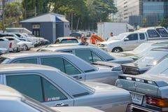 Mercedes Benz-verzameling aan Nakhon Ratchasima, Thailand 6 20 Februari Royalty-vrije Stock Afbeeldingen