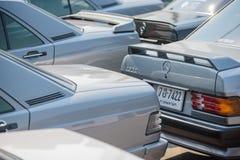 Mercedes Benz-verzameling aan Nakhon Ratchasima, Thailand 6 20 Februari Royalty-vrije Stock Afbeelding
