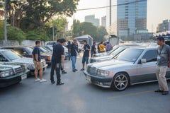 Mercedes Benz-verzameling aan Nakhon Ratchasima, Thailand 6 20 Februari Stock Afbeelding
