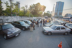 Mercedes Benz-verzameling aan Nakhon Ratchasima, Thailand 6 20 Februari Royalty-vrije Stock Foto