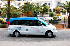 The Mercedes-Benz Viano minivan serves as a taxi. TENERIFE, SPAIN - MAY 25: The Mercedes-Benz Viano minivan serves as a taxi car on May 25, 2011 in Tenerife Stock Image