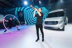 Mercedes Benz Vision Van παρουσίαση Στοκ Εικόνες
