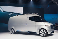 Mercedes Benz Vision Van. Hannover, Germany - Sep 23, 2016: Mercedes Benz Vision Van presentation show at the IAA Commercial Vehicles 2016 International Trade Stock Image