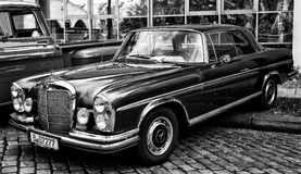 Mercedes-Benz W108 (black and white) Stock Photography