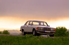 Mercedes-Benz W123 - cobra 240D Photos stock