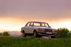Mercedes-Benz W123 - 240D Cobra front royalty free stock images