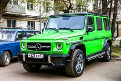 Mercedes-Benz W463 G63 AMG. Moscow, Russia - May 2, 2018: Motor car Mercedes-Benz W463 G63 AMG in the city street Stock Photography