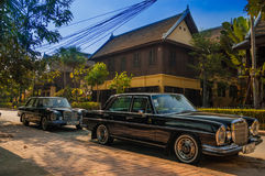 Mercedes-Benz W108 in Luang Prabang, Laos Stock Foto's