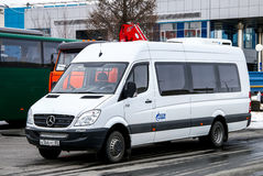 Mercedes-Benz W906 Sprinter. NOVYY URENGOY, RUSSIA - MAY 7, 2016: Passenger van Mercedes-Benz W906 Sprinter in the city street Stock Photography