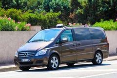 Mercedes-Benz W639 Viano. SAINT-TROPEZ, FRANCE - AUGUST 3, 2014: Motor car Mercedes-Benz W639 Viano at the city street Stock Image