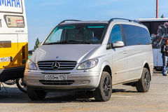 Mercedes-Benz W639 Vito. NOVYY URENGOY, RUSSIA - AUGUST 29, 2012: Modern van Mercedes-Benz W639 Vito in the city street Royalty Free Stock Photo