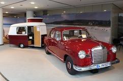 Mercedes Benz W120 with caravan Royalty Free Stock Photos
