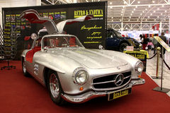 Mercedes-Benz W198 Gullwing (300SL) (1955-1963). KIEV - MAY 27: Annual automotive-show SIA 2010. May 27, 2010 in Kiev, Ukraine. Mercedes-Benz W198 Gullwing ( Stock Photography