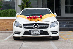 Mercedes Benz wedding car in the parking. Stock Images