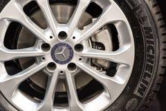Mercedes Benz Wheel And Break Pad Fotografie Stock Libere da Diritti