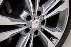Mercedes Benz wheel and rim stock images