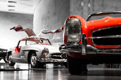 Mercedes Benz White Classic Coupe Royalty Free Stock Image