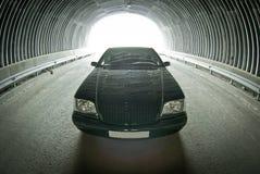 Mercedes bonito na estrada em um túnel Fotos de Stock Royalty Free