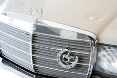 Mercedes brand logo Stock Photos