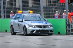 Mercedes C 63 AMG Medical Car at Formula BMW race Stock Images