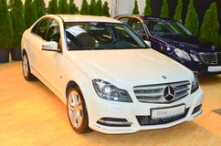Mercedes C class at SIAB 2011. The new C class from the german car maker Merceds presented at SIAB 2011 Stock Photos
