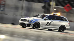 Mercedes C63 AMG medical car at F1 Singapore GP Royalty Free Stock Photography