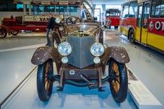 Mercedes-caballero del coche del vintage 16/45 picosegundo Tourer, 1921 Fotos de archivo libres de regalías