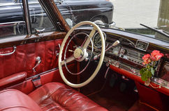 Mercedes cabrio vintage car Royalty Free Stock Photos