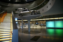 Mercedes car displayed in mercedes museum Stock Photos