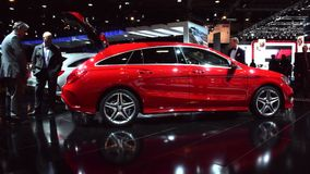 Mercedes CLA Shooting Brake compact estate car stock video footage