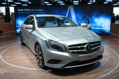 Mercedes A-class - russian premiere Stock Image