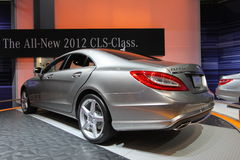 Mercedes CLS 550. Chicago auto show February 2011 Royalty Free Stock Photos
