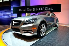 Mercedes CLS Class 2012. Mercedes CLS Class 2102 automobile at car show Royalty Free Stock Photography
