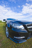 Mercedes cls headlights Royalty Free Stock Photo