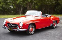 Mercedes convertible classic car Royalty Free Stock Images