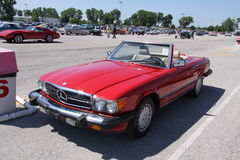 Mercedes convertible coupe. Classic Mercedes convertible coupe 1988 Stock Images